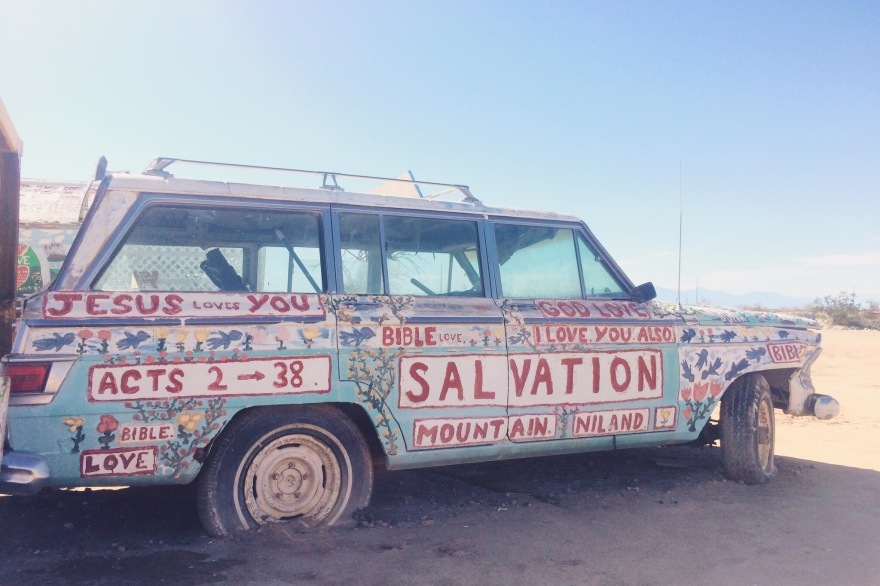 Salvation Mountain Slab City Salton Desert California